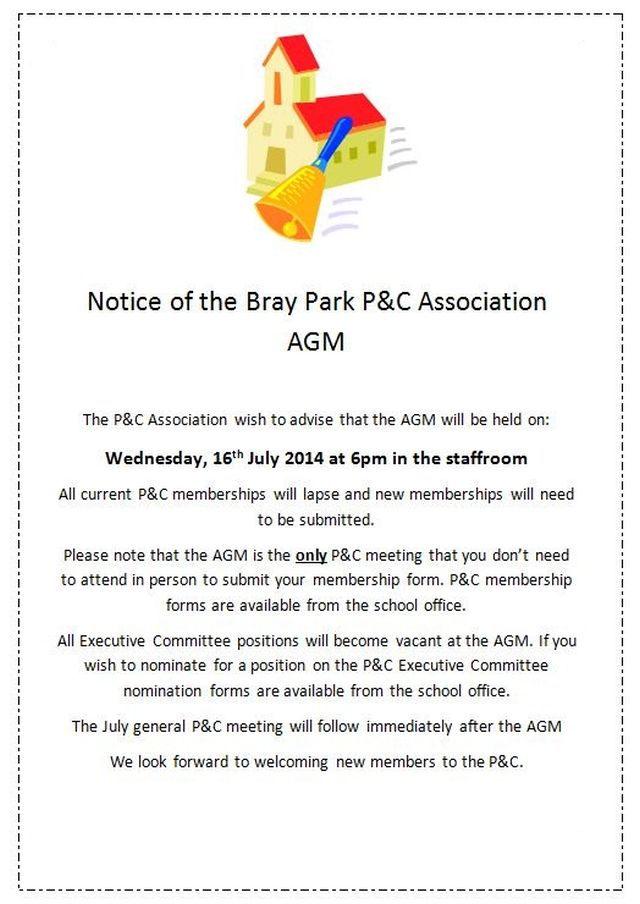P and C AGM